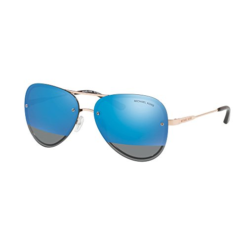 Michael Kors Womens La Jolla 0MK1026 59mm Rose Gold Tone/Block Cobalt Mirror One - Jolla La Sunglasses