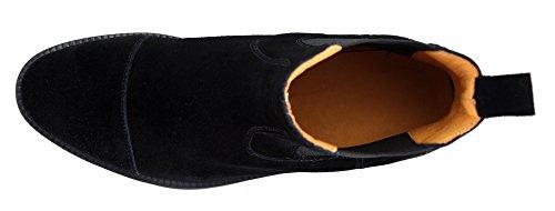 Noir bleu Bottes Cuir amp; Chaussure Italiennes Noir Homme Cheville Chelsea Classiques marron Bottines wwUOzaqS