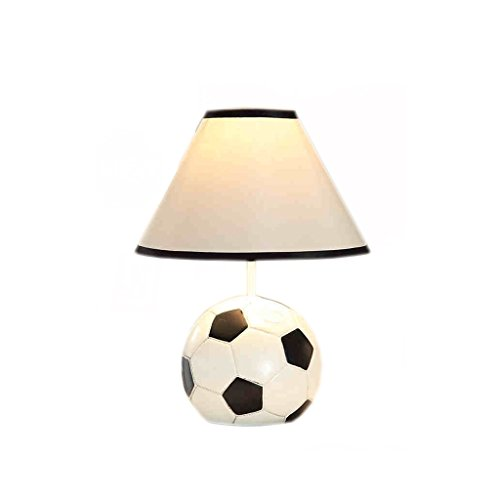 Bedside Lamp Soccer Resin Material Table Lamp For Children's Room ( Size : Dimming ) by Table lamp