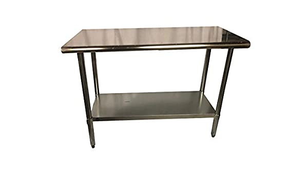 Stainless Steel Prep Work Table 14 x 60 NSF Heavy Duty