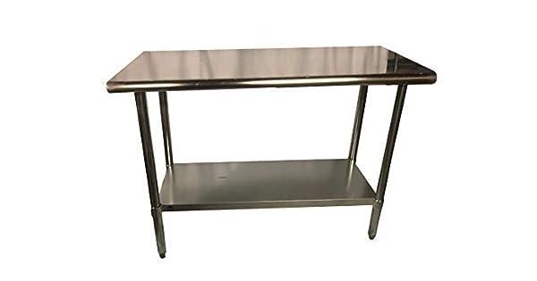 Amazon.com: Prep mesa de trabajo de acero inoxidable 18 x 48 ...