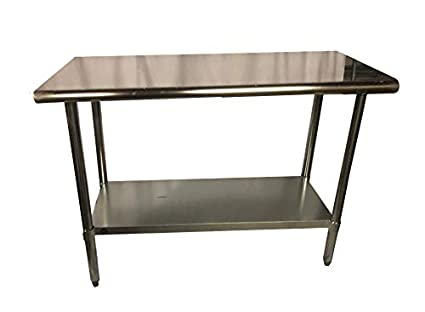 Stainless Steel Kitchen Food Prep Work Table 14 x 36 - NSF - Heavy Duty
