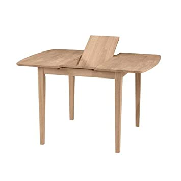 table extension. international concepts unfinished clarkson shaker leg dining table with butterfly extension