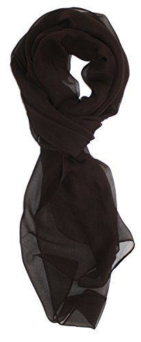 Ted and Jack - Solid Silk Lightweight Accent Scarf in Dark Chocolate Scarf Dark Chocolate