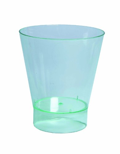 PacknWood Transparent Green Plastic Cup, 6 oz. Capacity (Case of 200)