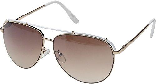 Steve Madden Women's Danielle White - Sunglasses Madden