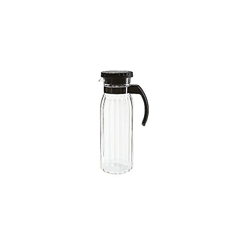 Tahiti Pitcher - G.E.T. P-4050-PC-CL Clear 50 Oz Pitcher w/ Black Handle - Dozen