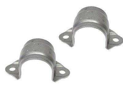 BMW e46 e85 Sway Bar Bushing Support Bracket Front (x2) brackets stabilizer ()