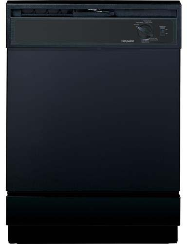 Price comparison product image Hotpoint HDA2100HBB Built-In 24-Inch Dishwasher, Black, 5 Cycles / 2 Options
