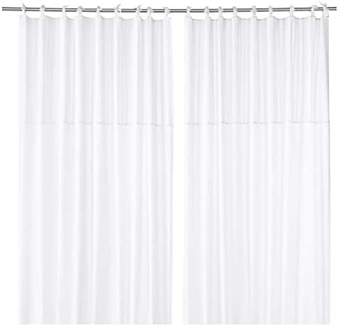 Ikea 803.128.99 Parlblad - Cortinas (1 par), color blanco: Amazon ...