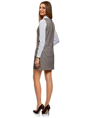Bolsillos Vestido Básico Oodji Mujer Con 3339c Ultra Beige pca4WWZ7