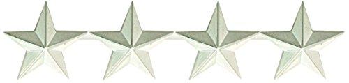 First Class Four Star Rank Collar Lapel Pin Insignia (Pair) - Nickel