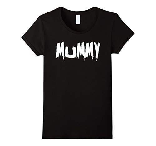 Womens Mom's Mummy T-Shirt Funny Mother's Halloween Costume Party Medium Black