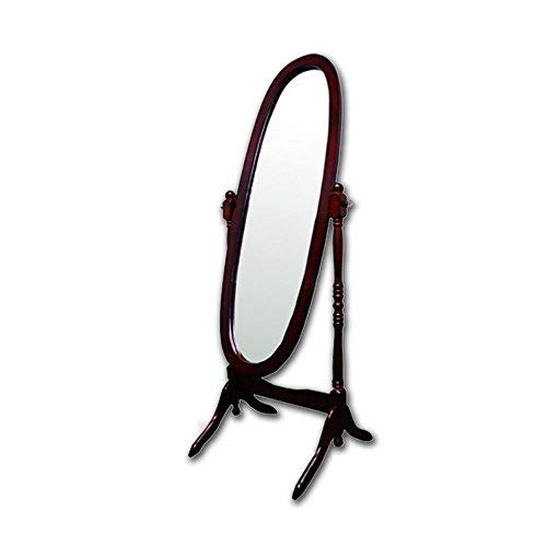 - Roundhill Furniture Audi Traditional Queen Anna Style Black Wood Floor Cheval Mirror