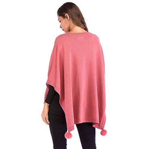 Cou O Bawting Strass Couleur Cape Manche Pink Les La Femmes De Solide Manteau xqfwOOI1Z