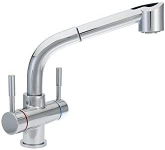 La Torre 2 Handle Single Hole Kitchen Faucet With Pull Down Power Spray Amazon Com