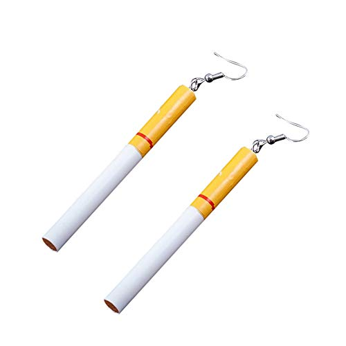 Funny Cigarette - Afco Funny Goldfish Water Bag Dangle Hook Earrings Girl Charm Christmas Gift (Cigarette Butts)