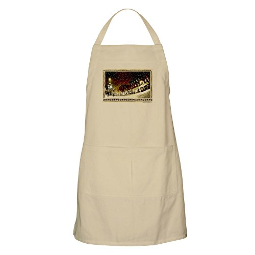 CafePress - Wintery Church St. BBQ Apron - Kitchen Apron with Pockets, Grilling Apron, Baking - Church St Vt Burlington