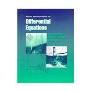 Student Solutions Manual for Blanchard/Devaney/Hall's Differential Equations by Blanchard, Paul, Devaney, Robert L., Hall, Glen R. (October 9, 1998) Paperback