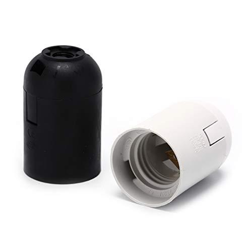 Lamp Base 10pcs 250V 4A Black E27 Light Bulb Lamp Holder Base Pendant Screw Cap Socket - (Color: WHITE) by Kamas (Image #3)
