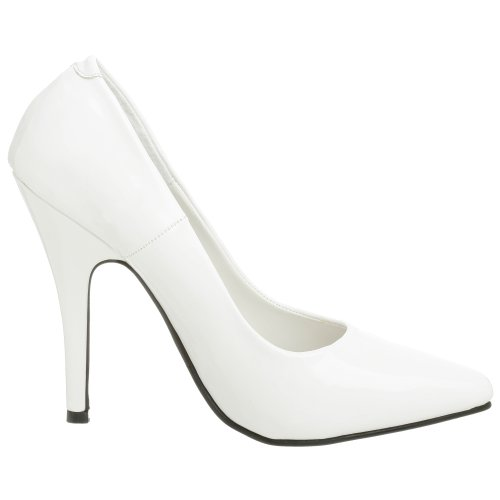 Pleaser SEDUCE-420, Damen Pumps, Weiß (Weiss (Wht Pat)), 45 EU (12 Damen UK)