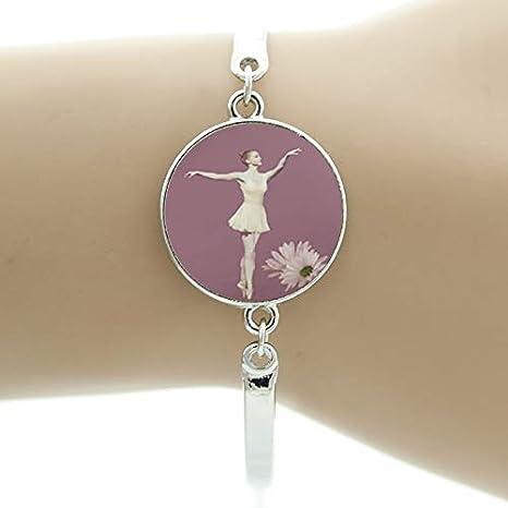 Ballet Dress Photo Cabochon Glass Tibet Silver Chain Pendant Necklace