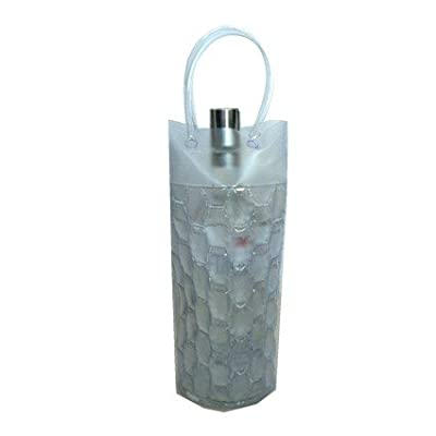 Chill It 1C Clear - Cylinder Shaped Freezable Bags for Wine, Champagne & Beverages