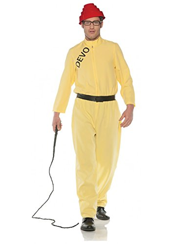 Joan Jett Costumes (Men's Licensed DEVO Costume - Whip It!, XX-Large)