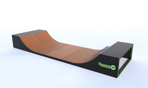 Ramptech 3' Tall x 8' wide Outdoor Halfpipe