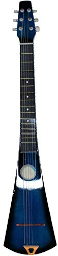 Original Hobby Acoustic Steel String Backpacker Travel Guitar with Bag and Strap (Blue Sunburst)