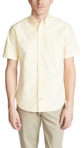Gitman Vintage Men's Button Down Oxford Shirt, Yellow, Medium