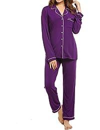 Pajamas Women's Long Sleeve Sleepwear Soft Pj Set XS-XXL