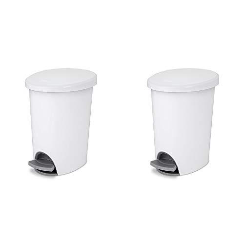 STERILITE, 2.6 Gal./9.8 L Ultra StepOn Wastebasket, Case of 2