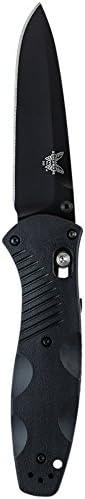 Benchmade Original Barrage Black Blade Drop Point Folding Knife Manual Opening