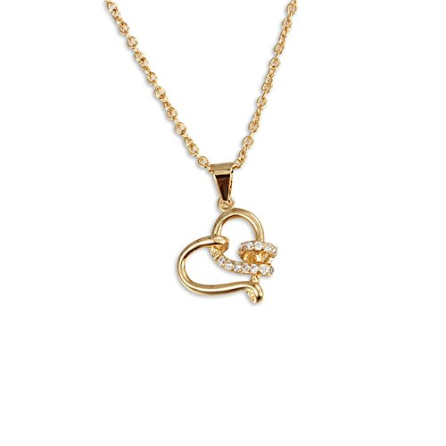 BLOOMCHARM Gifts for Women Necklace 18k Plated Cubic Zirconia Exquisite Pendant Necklace for Girls -
