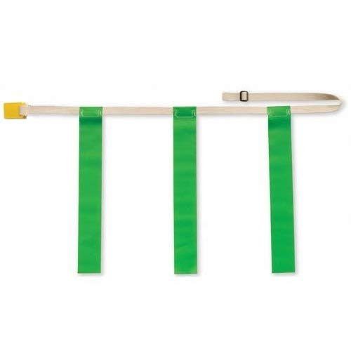 Martin Sports Dozen Pack (12) Adjustable Flag Football Belts; Quick Release, One-Piece Design 3 Flags (Green, Youth)