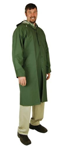 Heavy Duty Raincoat (Large) (PVC Coated Polyester) 60-inch