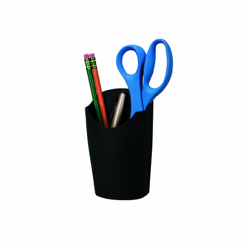 Fellowes Plastic Partition Additions Pencil Cup, 3.5 Inches x 5.56 Inches, Graphite (Fellowes Plastic Partition)