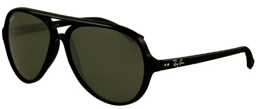 Ray-Ban Cats 5000 Sunglasses - Men's Black/Crystal Green, One - Ban 5000 Sunglasses Cats Ray