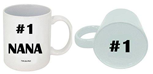 Funny Guy Mugs #1 Nana Ceramic Coffee Mug, White, 11-Ounce