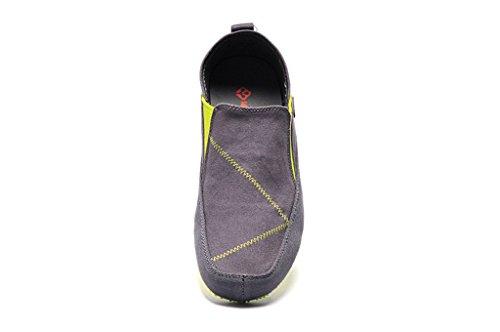 Senximaoyi Ventilatie Casual Schoenen Canvas Schoenen Lui Zachte Bottom Schoenen Doug Rijden, Donkergrijs, 8