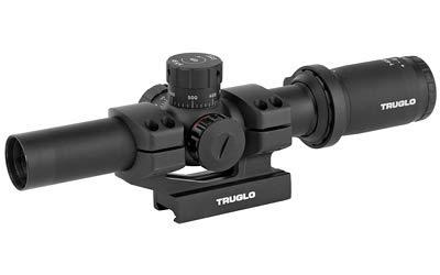 TRUGLO TRU-Brite 30 Series Illuminated Tactical Rifle Scope - Includes Scope Mount, 1-6 x 24mm
