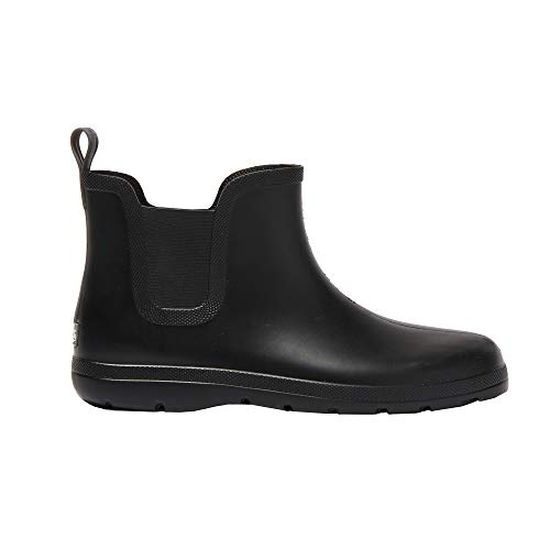 totes Men's Cirrus Chelsea Ankle Rain Boot, Black, 9