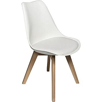D & S Tulip silla plástico madera Retro sillas de comedor ...