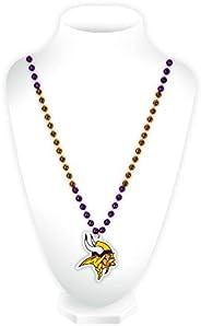 NFL Rico Industries Team Logo Mardi Gras Style Beads, Minnesota Vikings - Purple