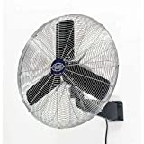 Oscillating Wall Mount Fan, 30' Diameter, 1/3hp, 8775cfm