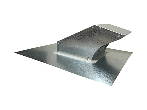 4 Inch Roof Vent Hood Cap Galvanized Damper & Screen - Vent Works by Vent Works (Image #1)