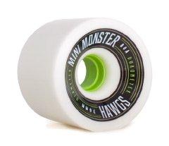 Landyachtz Mini Monster Hawgs Longboard Wheels - 70mm 80a White (Hawgs Longboard Wheel)