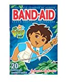 Band Aid Go Diego Go Bandages for Kids, Assorted - 20 Ea