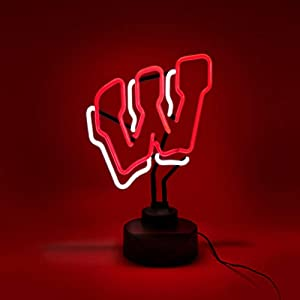 WISCONSIN BADGERS NEON SIGN LIGHT DISPLAY MAN CAVE OFFICE NCAA LICENSED NEW